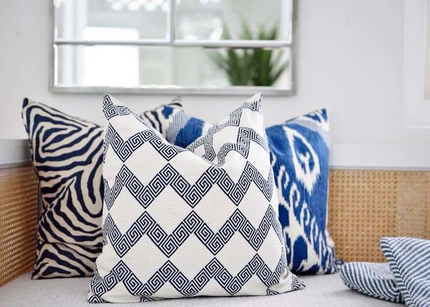 A chic collection of cushions by Bungalow 55; photo via Bungalow 55