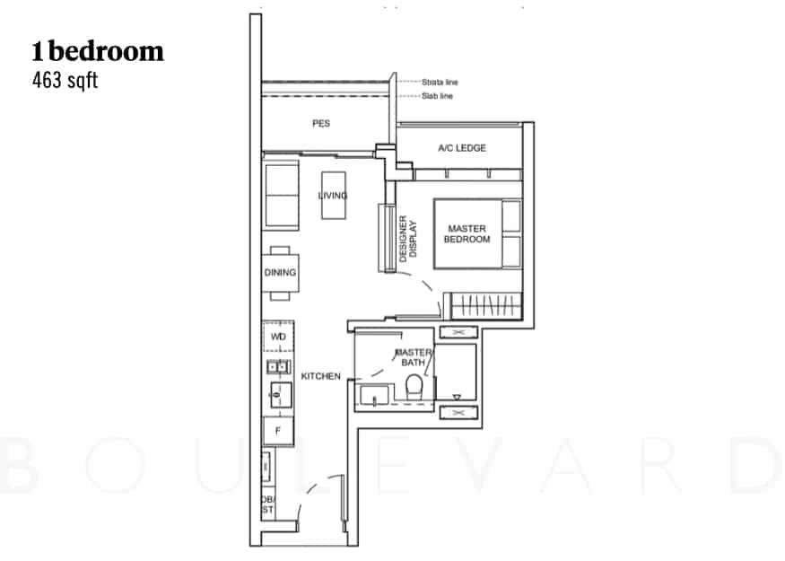 Haus on Handy floor plan 1 bedroom