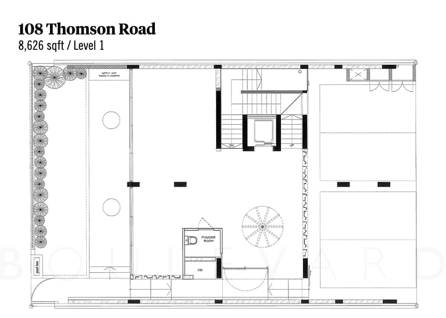 Thomson Road landed house floorplan level 1