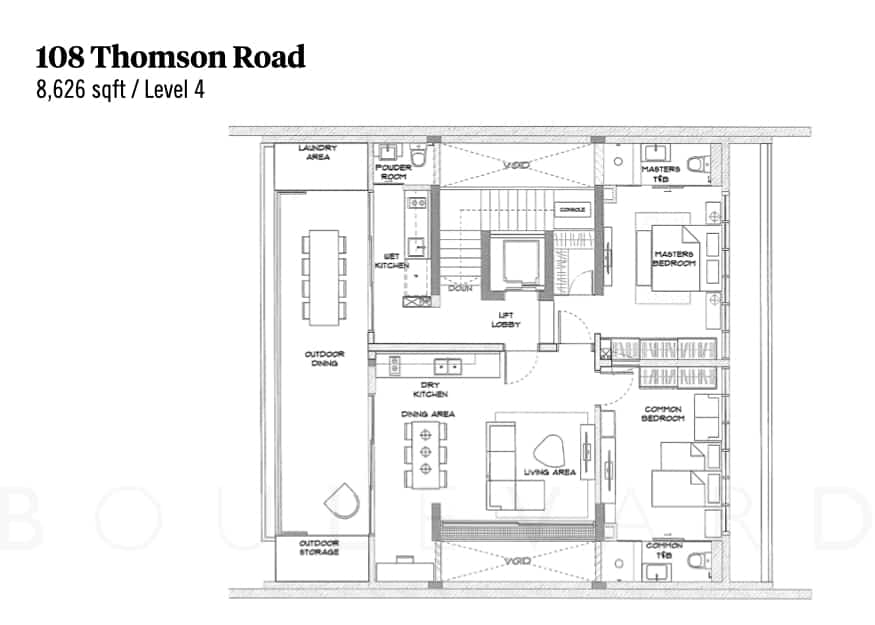 Thomson Road landed house floorplan level 4
