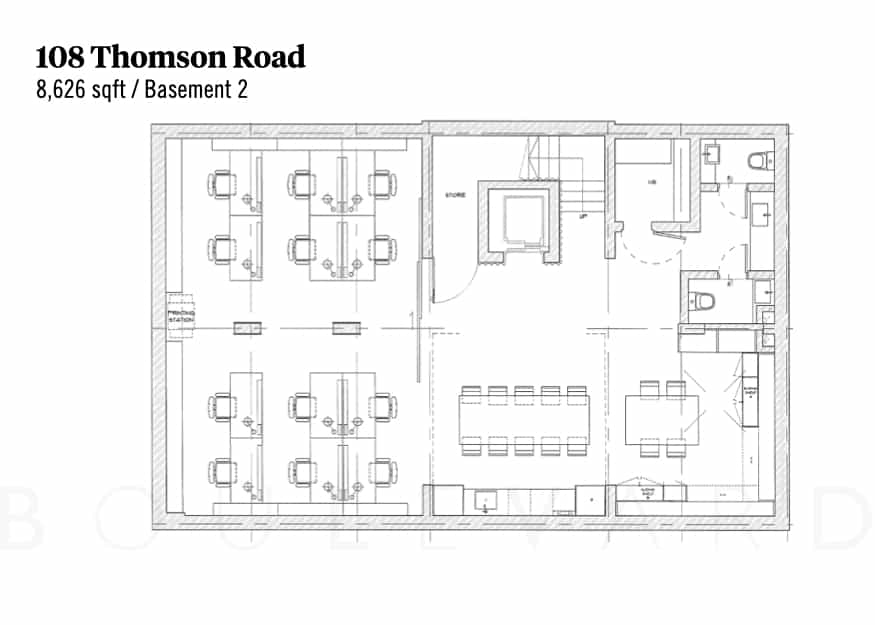 Thomson Road landed house floorplan basement 2