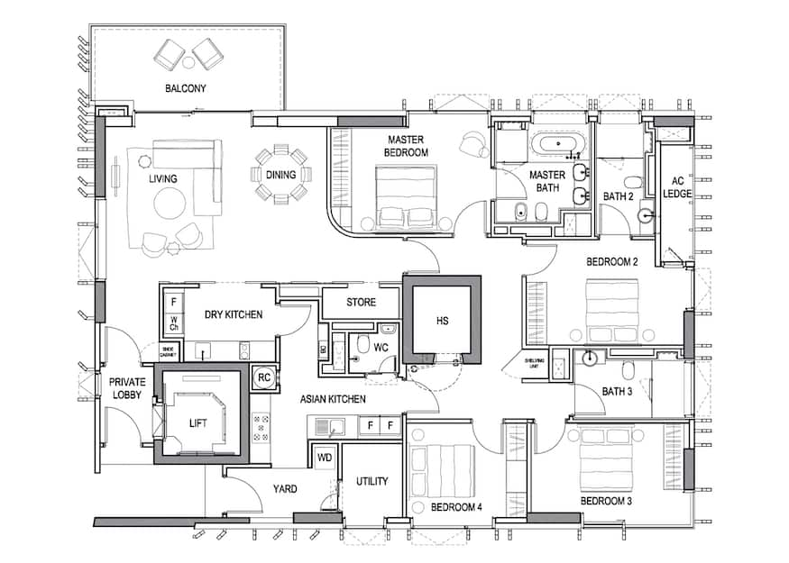 3 Orchard by the Park floorplan 4br