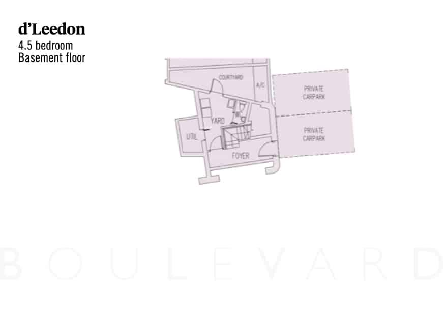 d'Leedon floorplan maisonette basement