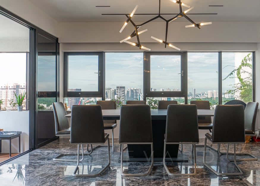 The Claymore 4br apartment dining room