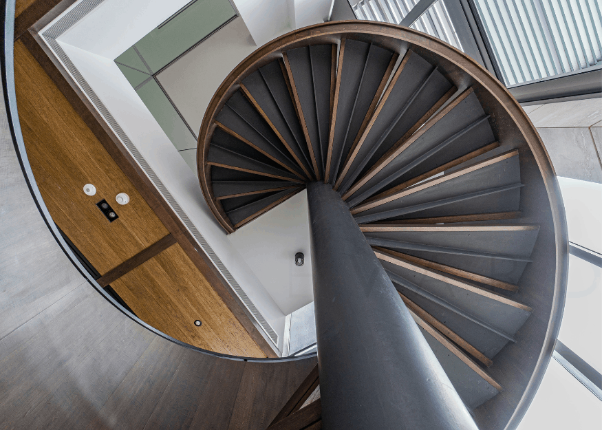 Nassim Park Residences penthouse stairwell